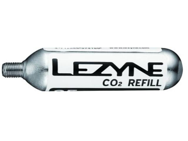 Lezyne 25G Threaded CO2 Cartridge Cykelpumpe 5 Stk sølv